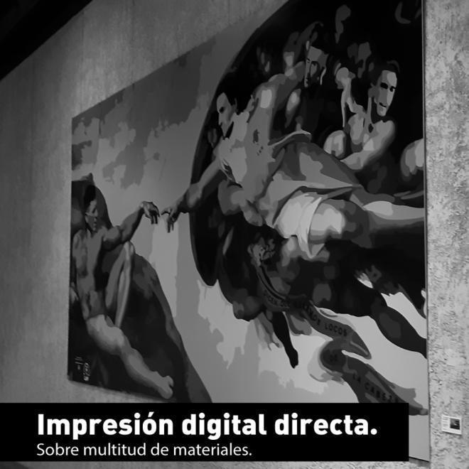 Cartón pluma impreso digitalmente para exposición
