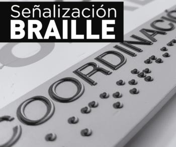 Señalización y rotulación en Braille. Accesibilidad. Placas. Directorios.
